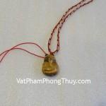 Mặt dây chuyền Hồ ly đá quý mắt mèo vân gỗ nhỏ tăng sức quyến rũ S441