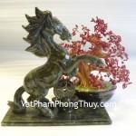 Ngựa xanh phong thủy Lam Ngọc trấn nguyên bảo công việc thuận lợi M115