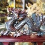 Tượng Rồng phong thủy Tiêu Ngọc Quảng Đông dáng đứng phát huy uy quyền RTN02