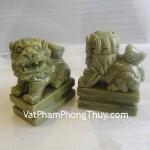 Cặp Sư tử đá phong thủy Lam Ngọc tăng uy phong M052