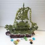 Tượng Thuyền rồng xanh phong thủy Lam Ngọc ổn định công việc R087